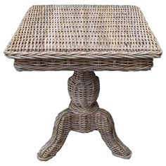 Rattan Living Wicker End Table @Pascale Lemay De Groof