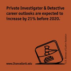 Private Investigator & Detective job outlooks projected to increase by 21% in ten years