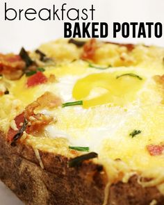 Try this on Sunday morning... The Idaho Surprise or make it a Breakfast Baked Potato!