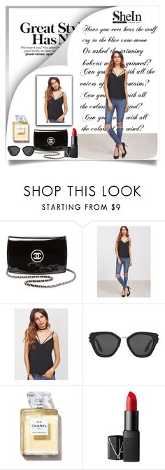 """""""SheIn"""" by elmina-h ❤ liked on Polyvore featuring Chanel, Prada and NARS Cosmetics"""