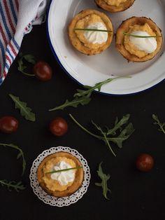 revuelto de huevos en cestillo de patata Finger Foods, Muffin, Appetizers, Snacks, Breakfast, Queso, Dinners, Mini, Potatoes