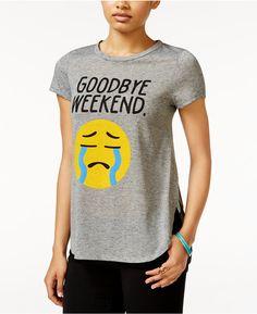NTD 2 Kuhl Juniors' Weekend Emoji Side-Slit Graphic T-Shirt