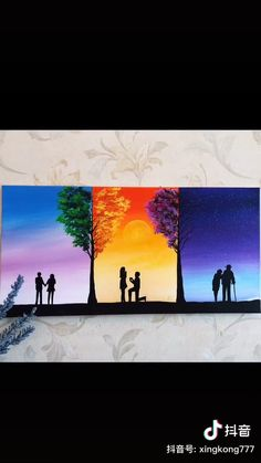 Canvas Painting Tutorials, Acrylic Painting Canvas, Watercolor Paintings, Romantic Paintings, Cool Art Projects, Mini Canvas Art, Amazing Art, Art Drawings, Crafts