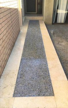 Used in landscaping design and property renovations, Exposed Aggregate Decorative Concrete is a popular choice with our Perth clients. Exposed Aggregate Concrete, Perth, Landscape Design, Sidewalk, City Limits, Patio, Landscapes, Construction, Home Decor
