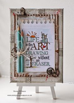 That's Life: A is for... ~ Simon Says Stamp Monday Challenge using products by Tim Holtz and Ranger Ink
