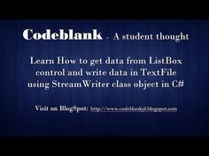 C# Tutorial : Text file writing using Stream Writer in C#