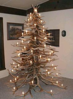 Elk Antler Christmas Tree.  I want this!