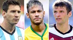 Lionel Messi, Thomas Muller and Neymar among 10-man Golden Ball shortlist