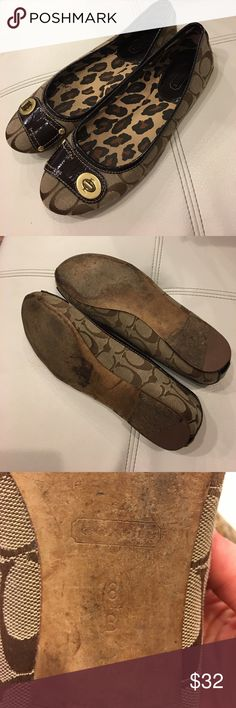 Coach flats These flats are used but are still in good condition! Coach Shoes Flats & Loafers