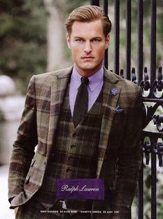 Doug Picket & Oriol Elcacho Front Ralph Lauren Purple Label Fall/Winter 2012 Campaign
