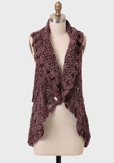 crocheted vest - cute with jeans!