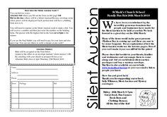 Printable Forms for Silent Auction registration | Silent auction flyer 2010-2pub