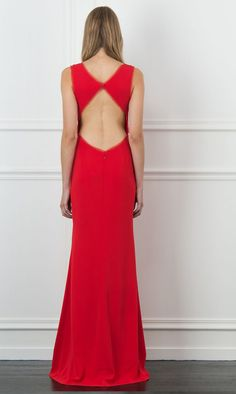 Rachel Zoe June Red Cutout Gown