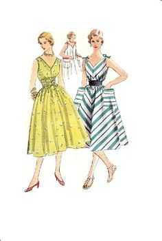 Simplicity 4309 Sewing Pattern Retro 50s by AdeleBeeAnnPatterns