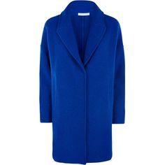 Fenn Wright Manson Helios Coat (8.160 RUB) ❤ liked on Polyvore featuring outerwear, coats, blue, blue coat, fenn wright manson, short coat, short sleeve coat and collar coat