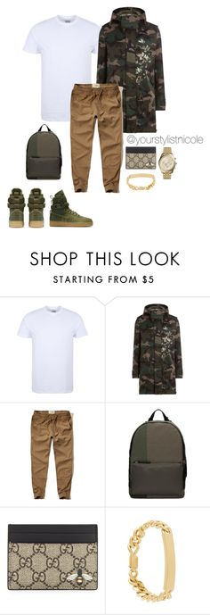 """""""Menswear Monday"""" by nicolemorris87 on Polyvore featuring NIKE, George, Valentino, Hollister Co., 3.1 Phillip Lim, Gucci, A.P.C., Michael Kors, men's fashion and menswear"""