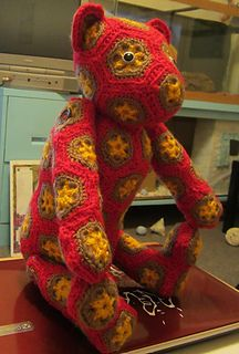 African flower bear free pattern