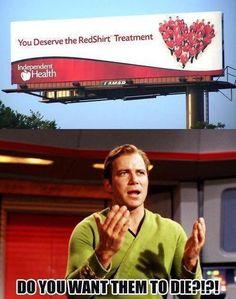 Haha! Red shirts