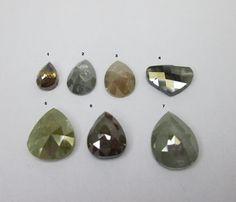0.63~2.22Cts Multi Color Pear & Heart Shape Rose Cut Diamonds #Bigdiamonds Rose Cut Diamond, Heart Shapes, Pear, Diamonds, Color, Colour, Diamond, Bulb, Colors