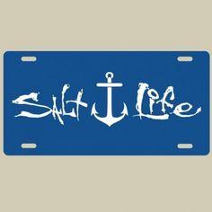 Salt Life Signature Anchor License Plate (Royal Blue;One Size)