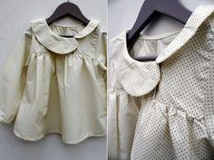 cc chickadee shirt powder blue cotton navy button liberty facings add length