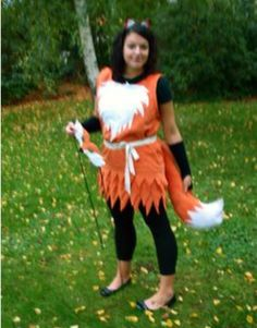 This would look so cute on a little girl! I think I've just found my old's Halloween costume! Creepy Costumes, Game Costumes, Theatre Costumes, Diy Halloween Costumes, Diy Fox Costume, Foxy Costume, Costume Ideas, Halloween 2014, Holidays Halloween