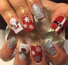 Sparkle Silver | Santa Belt Nail Decal
