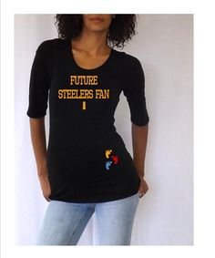 I NEED this for #2!!! Fun saying maternity tee Future Steelers Fan by DJammarMaternity