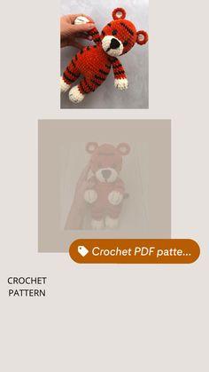 Crochet Toys Patterns, Pdf Patterns, Amigurumi Patterns, Amigurumi Toys, Learn To Crochet, Diy Crochet, Crochet Ideas, Amigurumi Tutorial, Plush Pattern