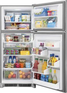 Frigidaire - Gallery 20.4 Cu. Ft. Custom-Flex Top-Freezer Refrigerator - Stainless Steel - AlternateView3 Zoom