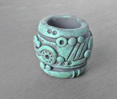 Sculpted Dreadlock Bead Polymer Clay Dread Bead by OneUrbanTribe