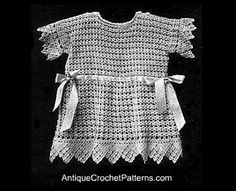Antique Baby frock  Ravelry: Crochet Baby Frock Pattern pattern by Vintage