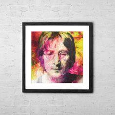 John Lennon Painting Poster  Fine Art Print for by TaylanSoyturk, $17.00