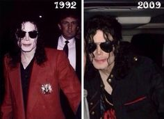 Michael Jackson in 1992 and in 2009.. Whatchu gon' say naow, haterz?!
