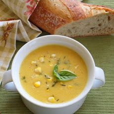 Late Summer Corn Soup with Fresh Herbs…from the Hamptons IV Recipe