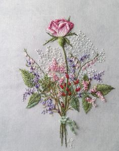 Wonderful Ribbon Embroidery Flowers by Hand Ideas. Enchanting Ribbon Embroidery Flowers by Hand Ideas. Brazilian Embroidery Stitches, Crewel Embroidery Kits, Hardanger Embroidery, Embroidery Patterns Free, Rose Embroidery, Learn Embroidery, Silk Ribbon Embroidery, Hand Embroidery Designs, Vintage Embroidery