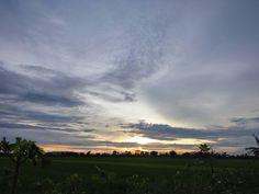 Sun on set