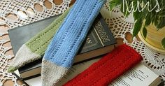 for Beginners Crayon Bookmark measures about 26 cm  ( 10.2 inch ). All pieces of the bookmark are knitted flat. MATERIALS you need: Straight...