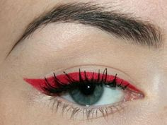Crafty Lady Abby: BEAUTY: Red Eye Makeup