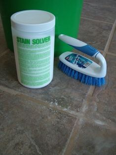 Use oxygen bleach (i.e., oxyclean) to clean kitchen tiles.