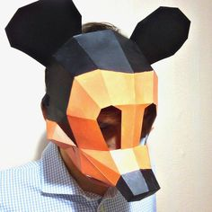 Mickey Mouse Mask Printable Pdf Download Cosplay Papercraft