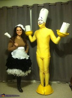 Lumiere and Babette Couple's Costume - Halloween Costume Contest via @costume_works