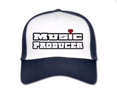 €17,99 order NOW!  Music Producer White/Blue Truckers Cap. Match it with a Music Producer hoody or t-shirt.