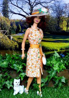 OOAK Barbie Silkstone FR Integrity Mod Vintage FLIRTY FLORAL Clare's Couture #ClaresCouture