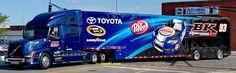 BK Racing, NASCAR, Toyota, Transporter, Hauler, Volvo, Dr. Pepper