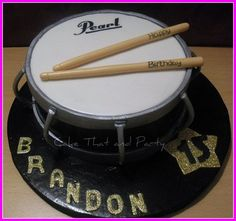 Pearl Drum Cake By Cakethatandparty Cakesdecorcom