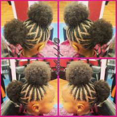 Adorable afro puffs by @kiabia87 Read the article here - http://blackhairinformation.com/hairstyle-gallery/adorable-afro-puffs-kiabia87/
