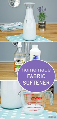 DIY your own fabric softener and save tons each year! Ingredient list and tutorial here: http://www.ehow.com/how_2192705_own-liquid-fabric-softener.html?utm_source=pinterest.com&utm_medium=referral&utm_content=freestyle&utm_campaign=fanpage