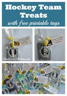 These team treats are easy, inexpensive, and soooo clever! #hockeymom #teamtreats