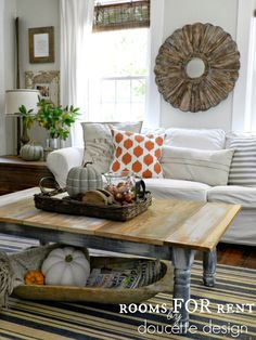 Fall Home Tour rustic round wood mirror and bold orange pillow from home goods! Room Decor, Decor, Home Goods, Home, Autumn Home, Fall Home Decor, Rustic Living Room, Home Decor, Living Room Design Inspiration